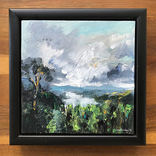 'Lake View' - 15cm x 15cm original landscape