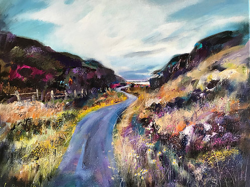'The Long and winding road' - Scottish highland landscape - Acrylic on Canvas