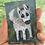 "Thumbnail: 'White Dog' - miniature Dog painting ACEO 2.5"" x 3.5"""