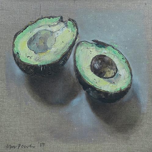 'Avocado' - Still life oil painting on linen