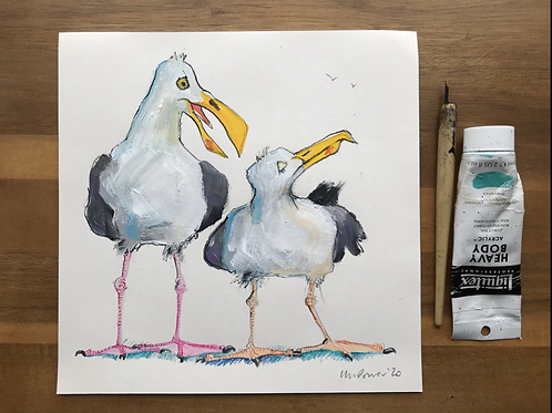 'Snubbed' - A Seagull painting