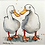 Thumbnail: 'Duck Buddies #02' - mini painting of two white ducks