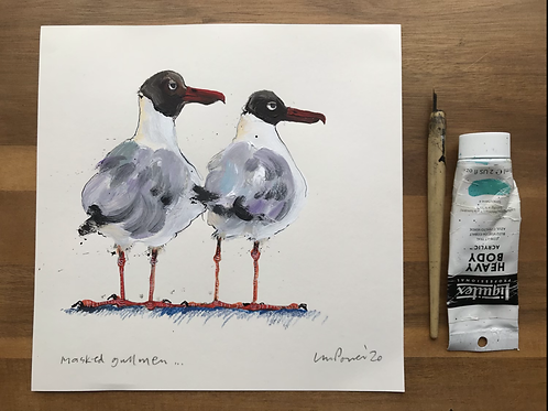 'Masked Gullmen' - A Seagull painting