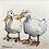 Thumbnail: 'Duck Mates #01' - mini painting of two white ducks