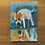 "Thumbnail: 'Reflecting Dog' - miniature Dog painting ACEO 2.5"" x 3.5"""