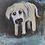 "Thumbnail:  'Sad Dog' - miniature Dog painting ACEO 2.5"" x 3.5"""