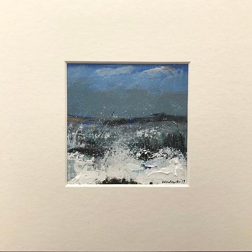 Rough sea - miniature seascape painting