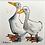 Thumbnail: 'Duck Mates #02' - mini painting of two white ducks