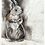 Thumbnail: Red Squirrel - charcoal drawing on paper - A4, 295mm x 210mm