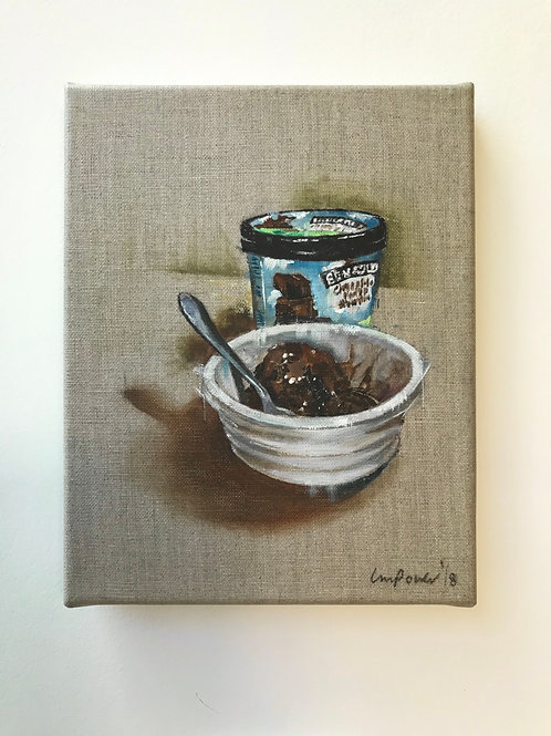 'Ben and Jerry's' - Still life oil painting on linen