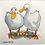 Thumbnail: 'Duck Besties #01' - mini painting of two white ducks