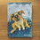 "Thumbnail: 'Sliding Dog' - miniature Dog painting ACEO 2.5"" x 3.5"""