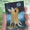 "Thumbnail: 'Moon Dog' - miniature Dog painting ACEO 2.5"" x 3.5"""