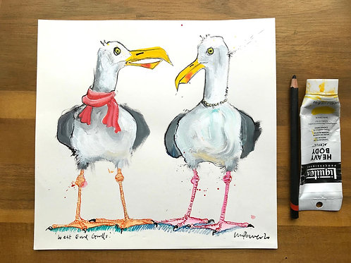 'West end Gulls' - A Seagull painting
