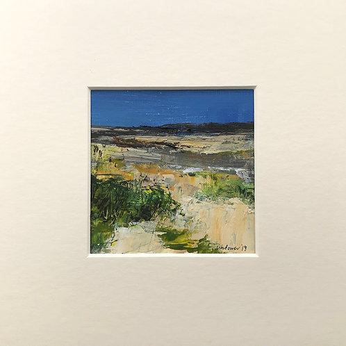 Low tide - miniature seascape painting