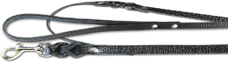 2420 Поводок с плетением кожаный