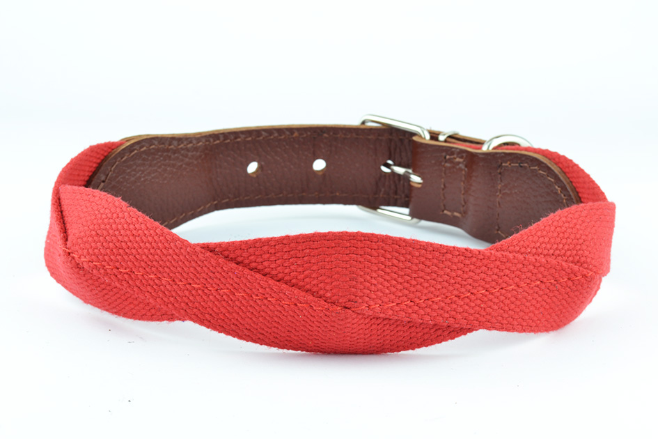 0684 Polycotton+leather collar