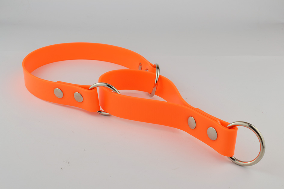Poly-coated nylon collar