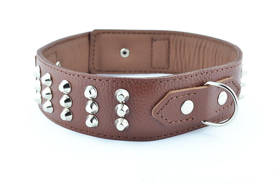 1763 Leather collar with spike