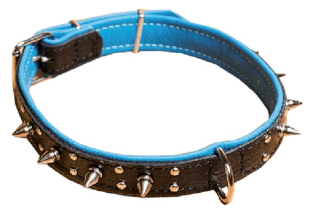 1373 Leather collar with spikes