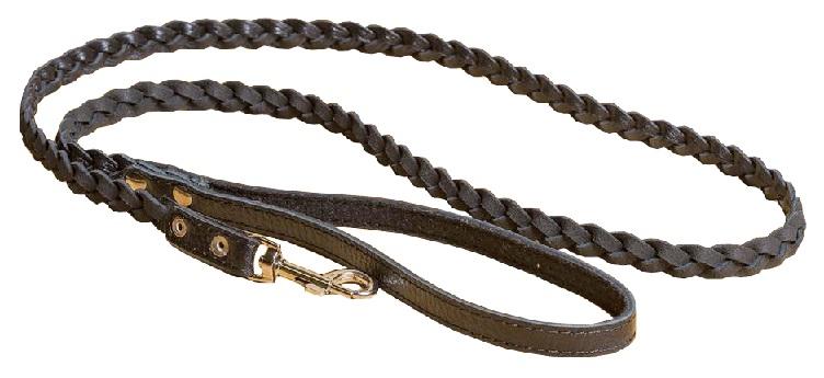 2230 Поводок-косичка кожаный