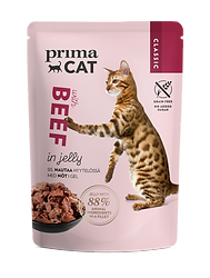 9221 PrimaCat Classic beef in jelly 85 g