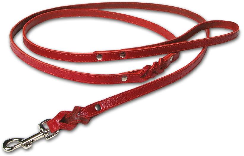2470 Поводок с плетением кожаный