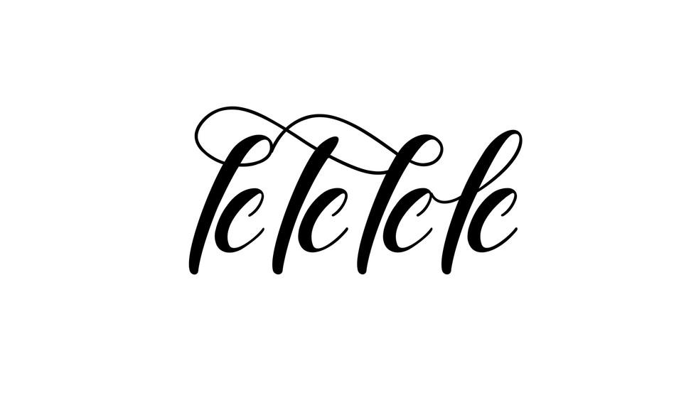 Alefs from Hebrew brush stroke font Elizabeth
