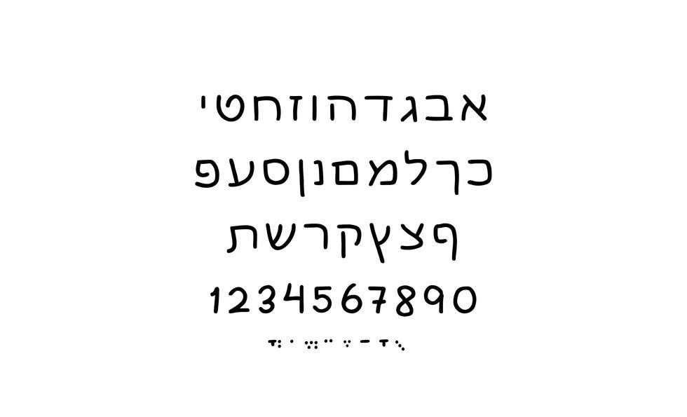 Hebrew Font Malkush Letters