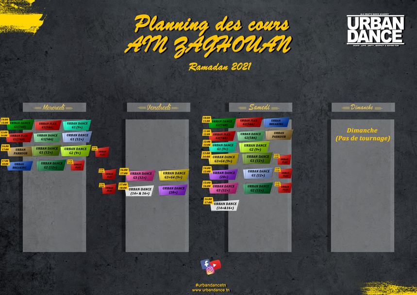 planning Ain zaghouan ramadan