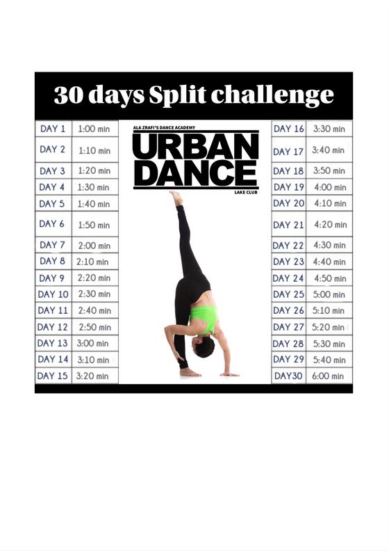 30 Days Split challenge