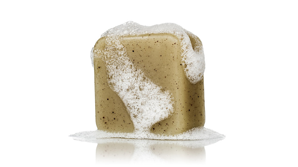 Deodorizing Minty Mate Yerba Mate Tea Soap with Crushed Apricot Seeds