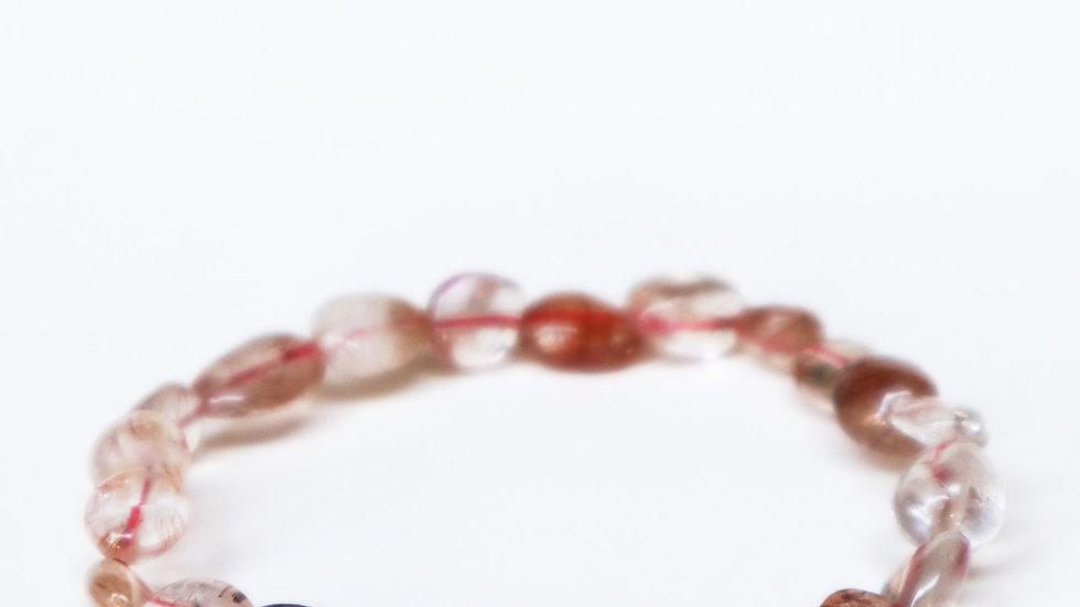 Red Rutilated Quartz (Pebbled)