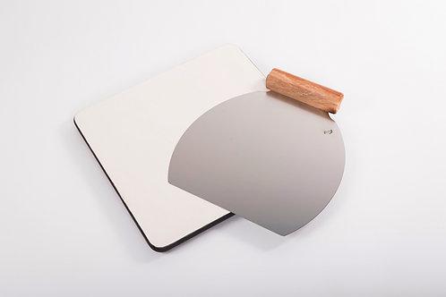 K glinena plošča za peko 36.36 opcija Inox Lopar