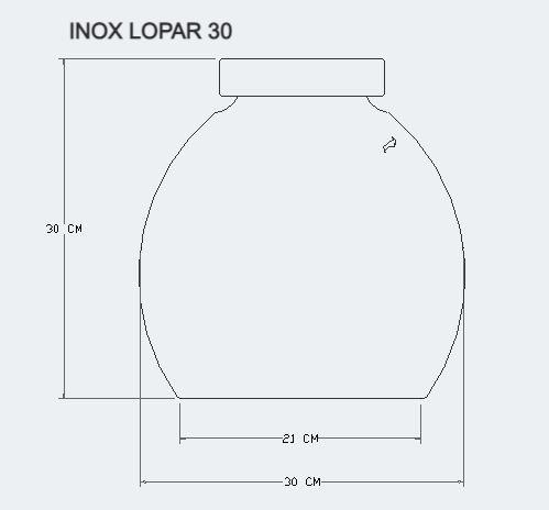 INOX LOPAR ZAN PEKO 30 CM