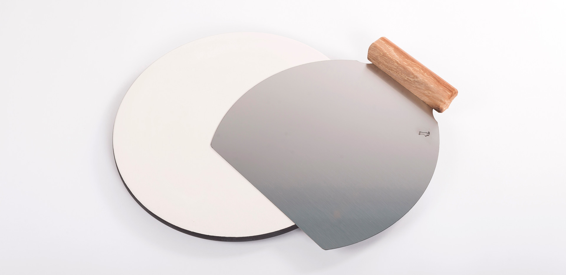 okrogla glinena plošča za peko + lopar