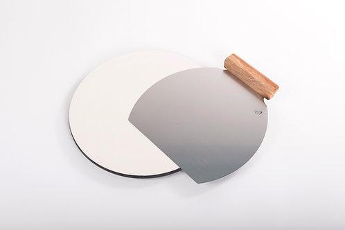 O glinena plošča za peko 36 opcija Inox Lopar