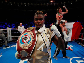 First female British boxer scores TV with same-sex dance inauguration
