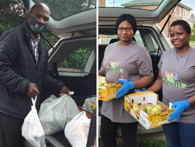 Group of volunteers delivers food parcels to BAME community to ensure no one goes hungry