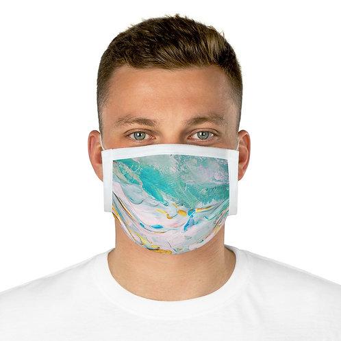 Turquoise Oil Paint Cotton Mask