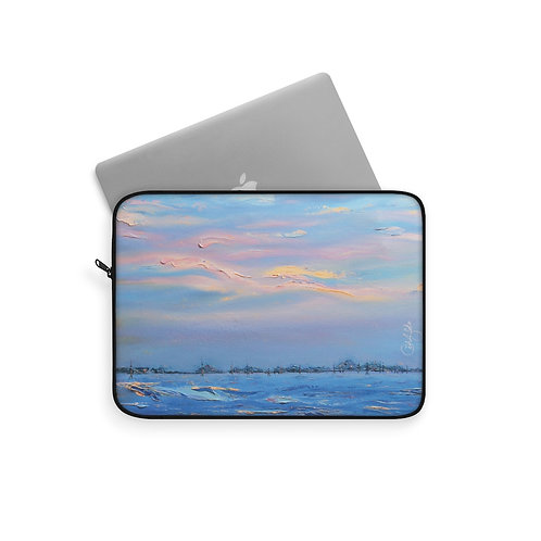 Oil Paint Venetian Sunset I - Laptop Case