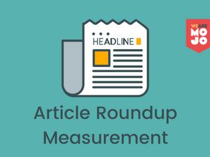 Article Roundup: Measurement