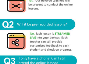 Infographic - Online Lessons FAQ
