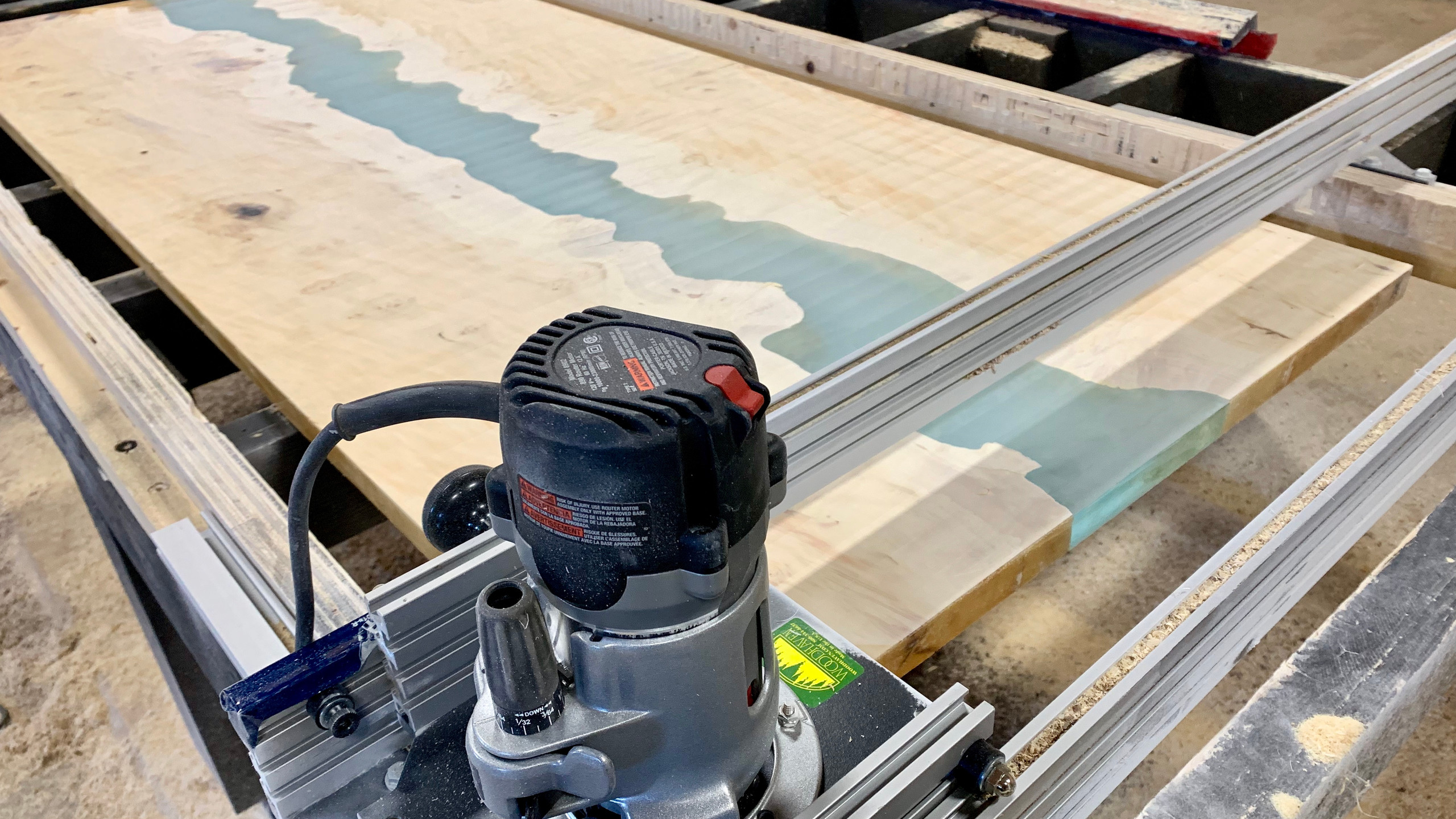 Slab with router