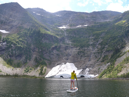 Paddle Boarding with Glaciers