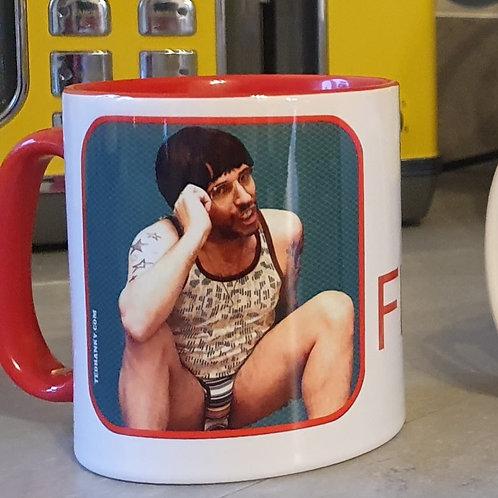 'TOP FLANGE' Mug - Red