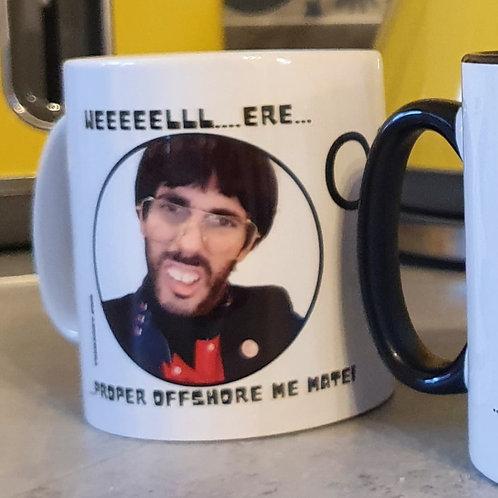 'PROPER OFFSHORE' Mug - White