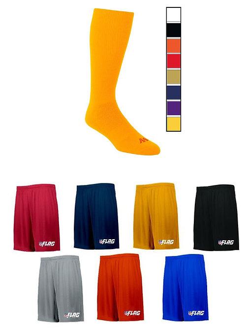 CLOSED for SPRING 21' - NFL Flag -TEAM PACKAGE Adjustable Drifit Shorts/ Socks