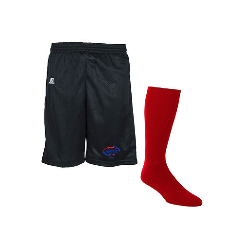 "AVAILABLE FALL 2020 -TEAM PACKAGE Adjustable Athletics - YOUTH Mesh 7"" Short"