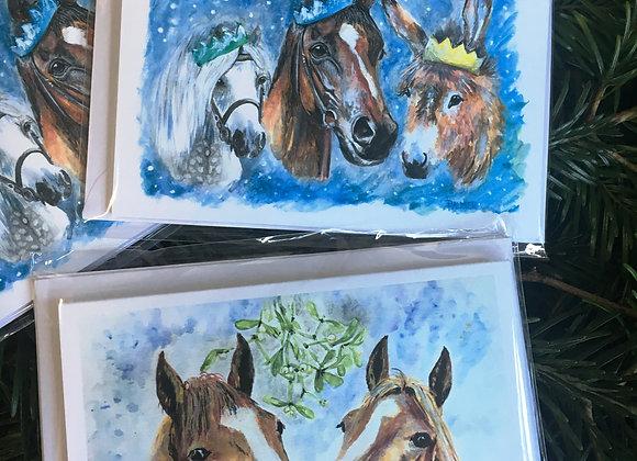 Equestrian Christmas cards